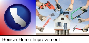 home improvement concepts and tools in Benicia, CA