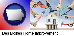 Des Moines, Iowa - home improvement concepts and tools