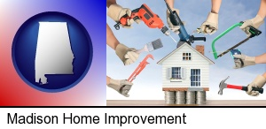 home improvement concepts and tools in Madison, AL