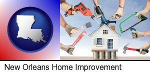 New Orleans, Louisiana - home improvement concepts and tools