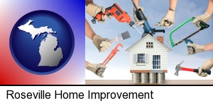 Roseville, Michigan - home improvement concepts and tools
