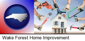 home improvement concepts and tools in Wake Forest, NC