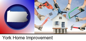 home improvement concepts and tools in York, PA