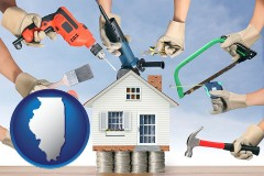 home improvement concepts and tools - with IL icon