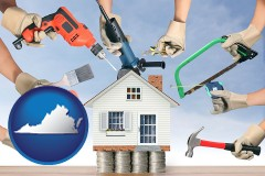 home improvement concepts and tools - with VA icon
