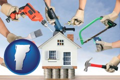 home improvement concepts and tools - with VT icon
